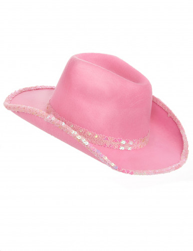 Chapeau rose de cowgirl adulte