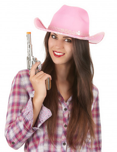 Chapeau rose de cowgirl adulte-1