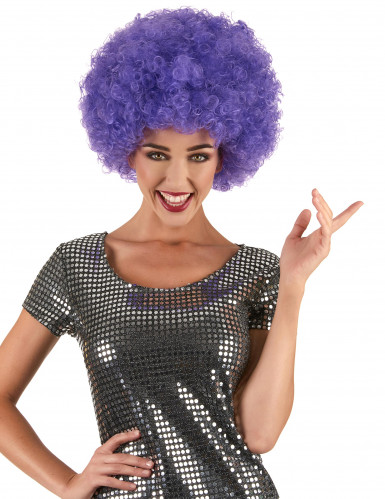 Perruque afro disco violette confort adulte