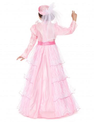 Déguisement princesse rose à dentelle fille-2