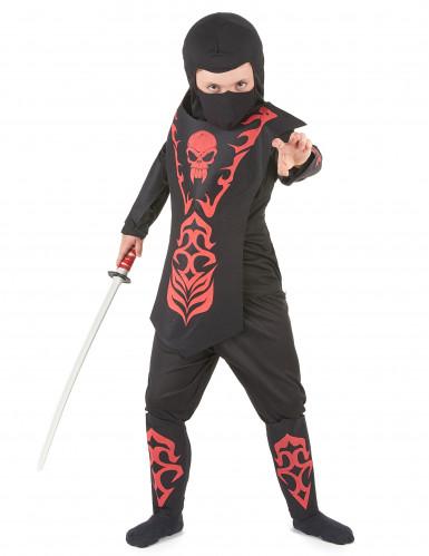 Déguisement ninja rouge à motifs garçon