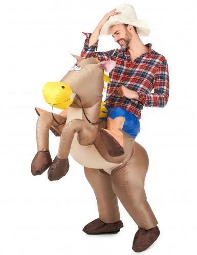 Déguisement cheval gonflable adulte