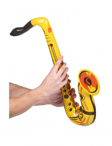 Saxophone gonflable jaune adulte-1