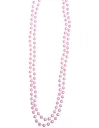 Collier perles roses