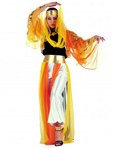 Déguisement danseuse orientale à voilage femme