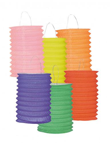 12 Lampions colorés 13 cm