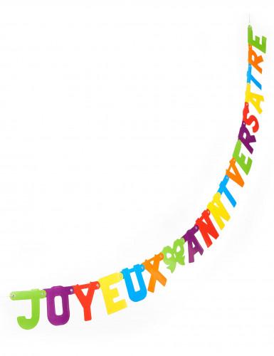 Guirlande Joyeux anniversaire découpée colorée
