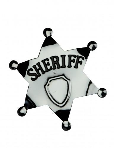 Étoile de sheriff argentée 6 cm