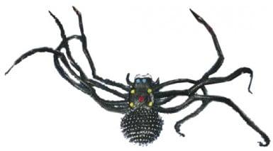 Araignée noire géante Halloween