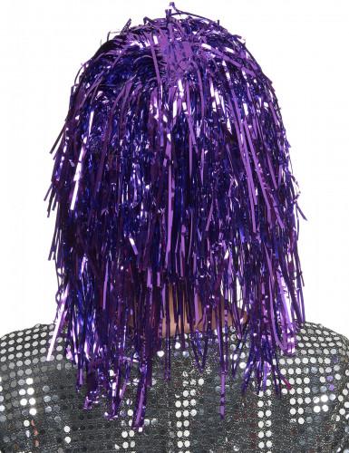 Perruque métallique violette adulte-1