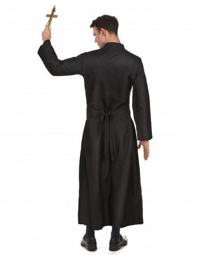 Déguisement prêtre avec col blanc homme-2
