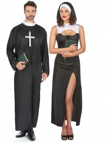 Déguisement couple de none et de prêtre