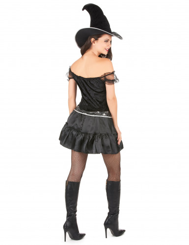 Déguisement sorcière sexy à corsage femme Halloween-2