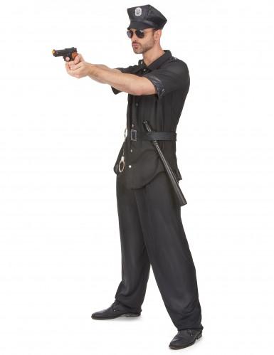 Déguisement policier noir homme-1