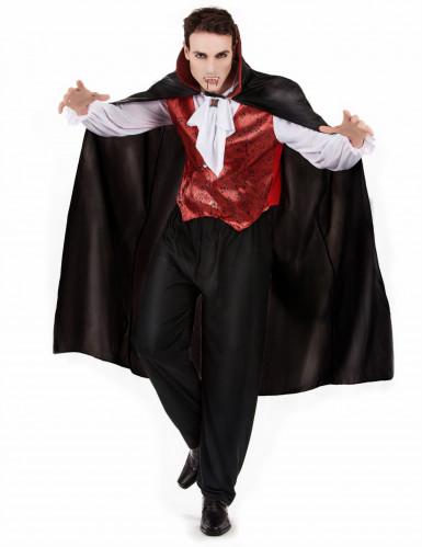 Déguisement vampire rouge homme Halloween