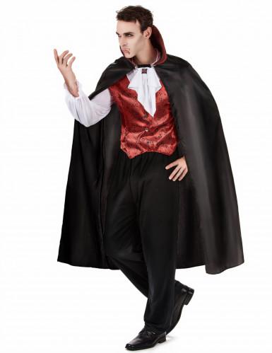 Déguisement vampire rouge homme Halloween-2