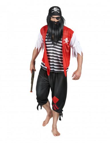Déguisement pirate avec cache-œil homme