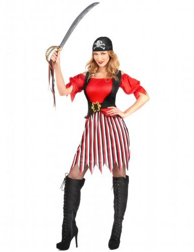 Déguisement pirate tunique femme-1