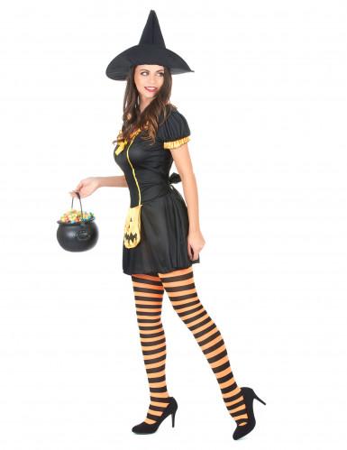 Déguisement sorcière citrouille femme Halloween-1
