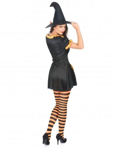 Déguisement sorcière citrouille femme Halloween-2