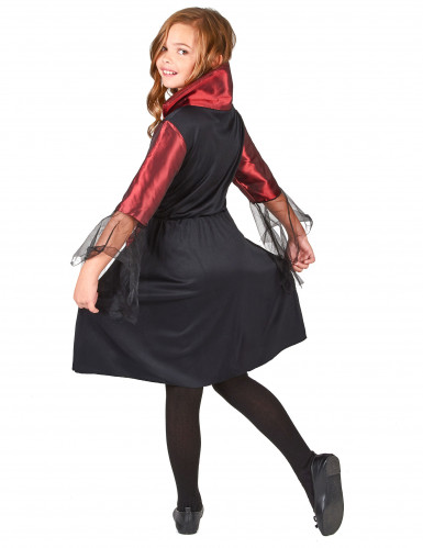 Déguisement vampire satiné fille Halloween-2