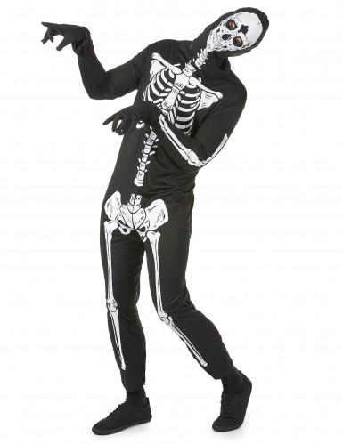 Déguisement noir squelettehomme Halloween-1