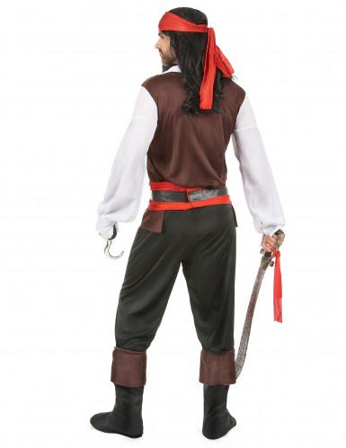 Déguisement pirate pantalon noir homme-2