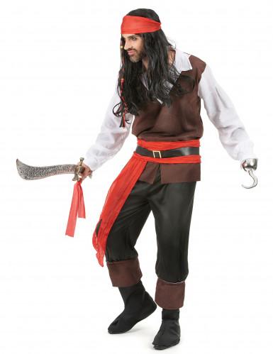 Déguisement pirate pantalon noir homme-1