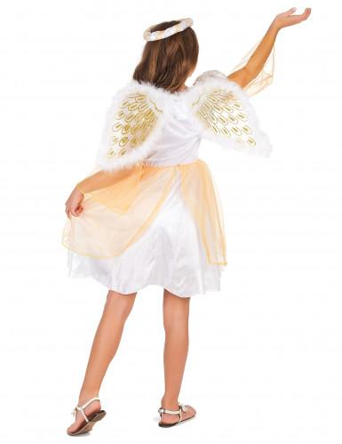Déguisement ange blanc et doré fille-2
