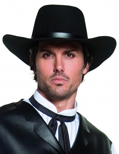 Chapeau de cowboy noir luxe adulte