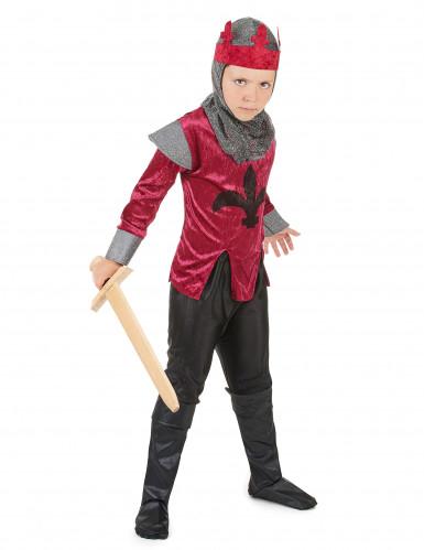 Déguisement chevalier médiéval rouge garçon