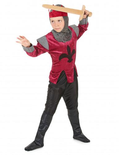 Déguisement chevalier médiéval rouge garçon-1