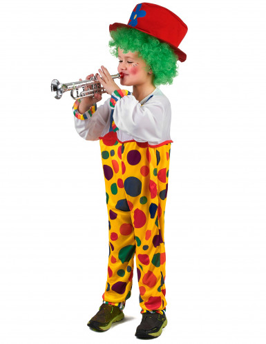 Déguisement clown à pois enfant-1