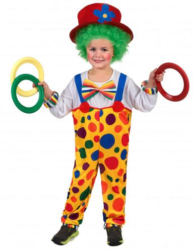 Déguisement clown à pois enfant