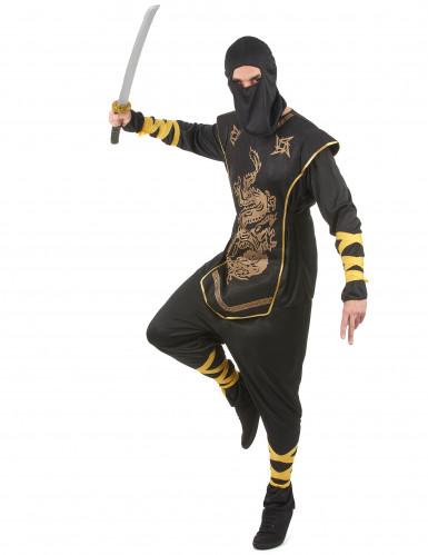 Déguisement ninja dragons dorés homme-1