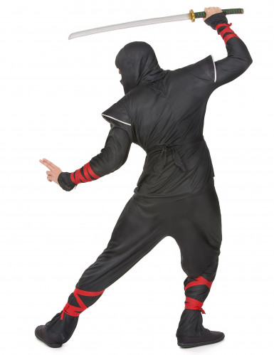 Déguisement ninja dragon argentés homme-2
