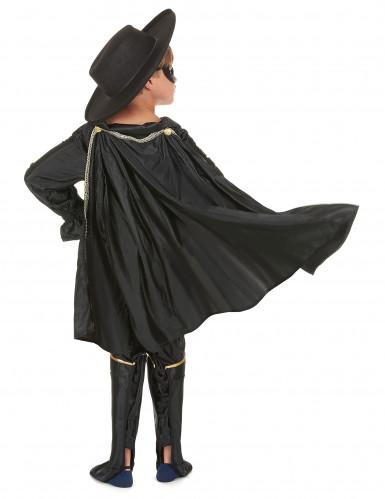 Déguisement justicier masqué noir garçon-2