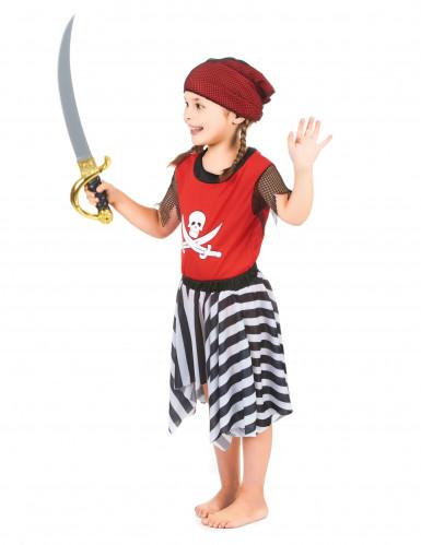 Déguisement pirate corsaire rouge fille-1