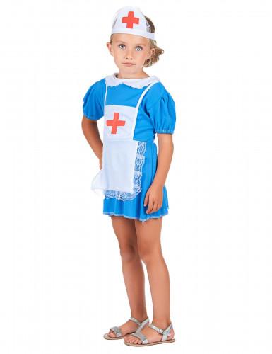 Déguisement infirmière bleu fille-1