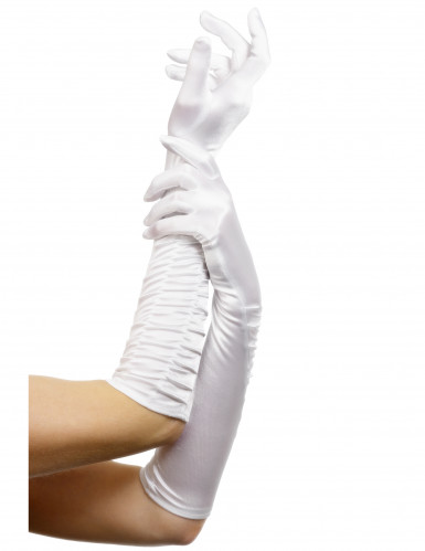 Gants longs blancs femme 46 cm
