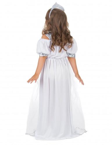 Déguisement princesse argenté fille-2
