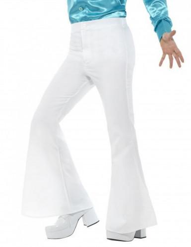 Pantalon disco blanc homme