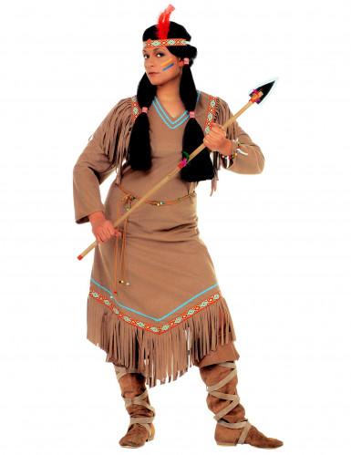 Déguisement indienne manches longues femme-1