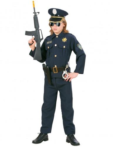 Déguisement policier bleu marine garçon-1