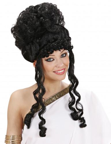 Perruque déesse noire femme