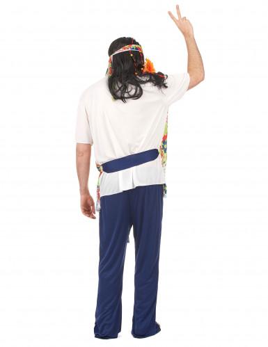 Déguisement hippie bleu homme-2