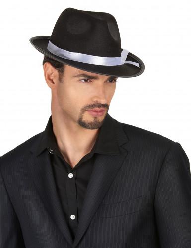Chapeau gangster noir adulte-1