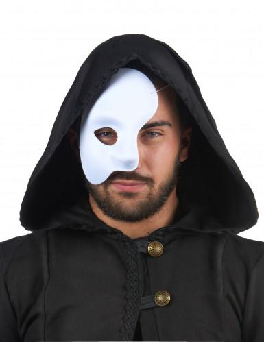 Demi masque blanc adulte