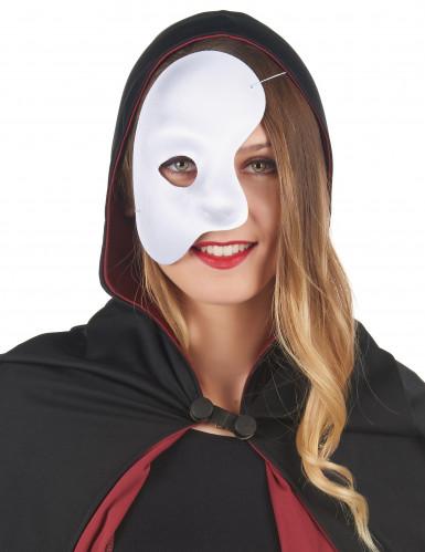 Demi masque blanc adulte-1