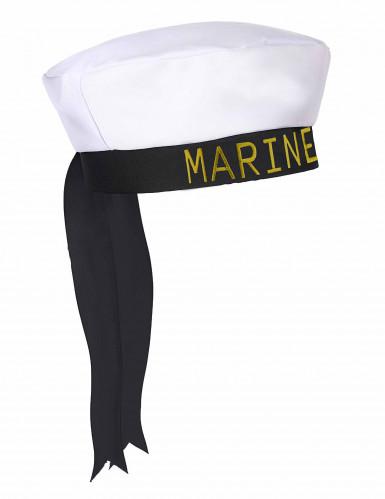 Chapeau marin ruban noir adulte